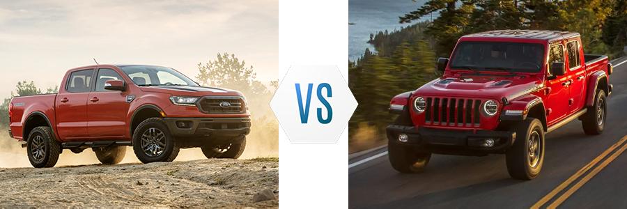 2021 Ford Ranger vs Jeep Gladiator